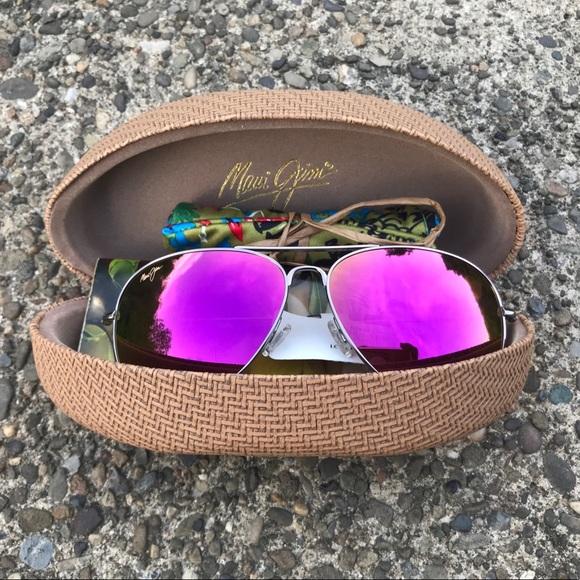 5abd7cfe035 Maui Jim Mavericks Polarized Aviator Sunglasses